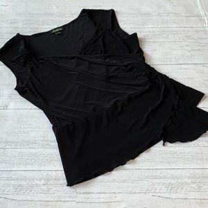 CORTISE medium sexy black top slinky drapes MD L